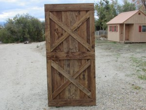 A door made from Rustic Hemlock Mushroom Wood